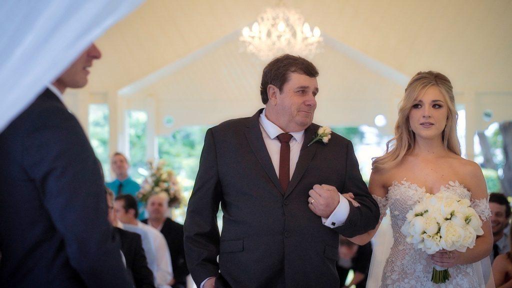 Father gives bride away at Gabbinbar Homestead