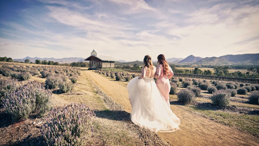 Kooroomba Lavender Farm Wedding videography and photography